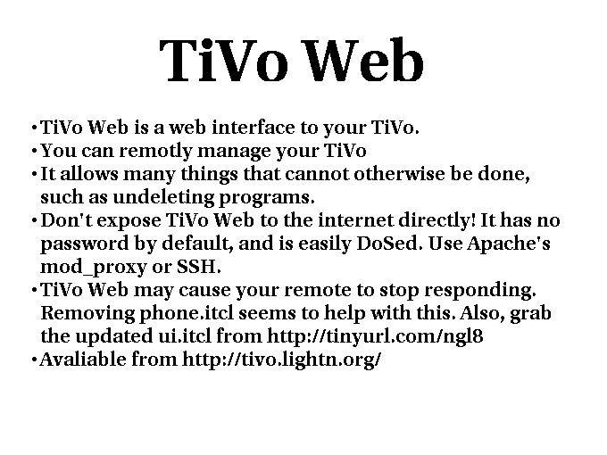 tivo essay Essay goodbye, tivo new, 181 comments  tivo, this fossil of a web 10 startup ambling along on diminishing shreds of patent revenue, finally pushed me over the edge it should've been the.